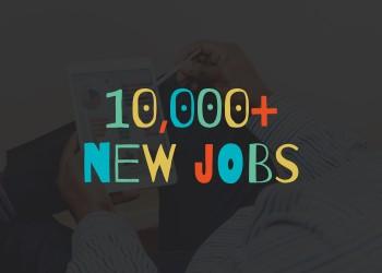 10,000 new jobs