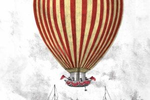 Montgolfier balloon at the gardens 1838