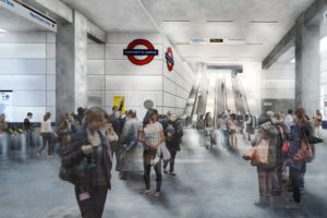 CGI of the new Northern Line ticket hall