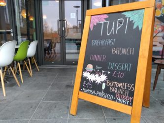 Tupi restaurant sign