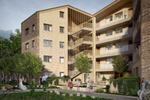 Council homes Balfour Road (artist's impression)