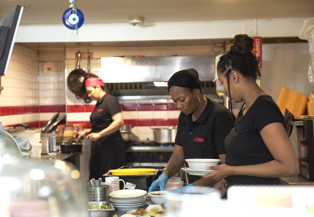 Preparing Picca Pollo at La Barra